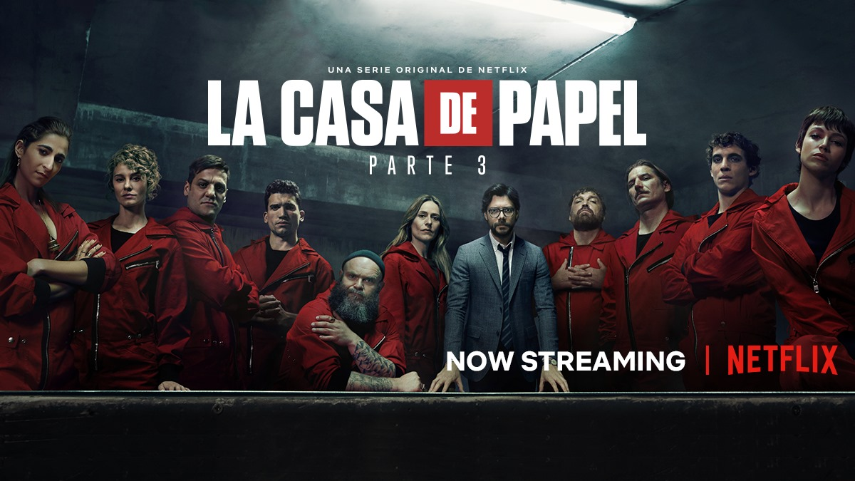 La casa del papel - Netflix - audience - séries tv - top 10