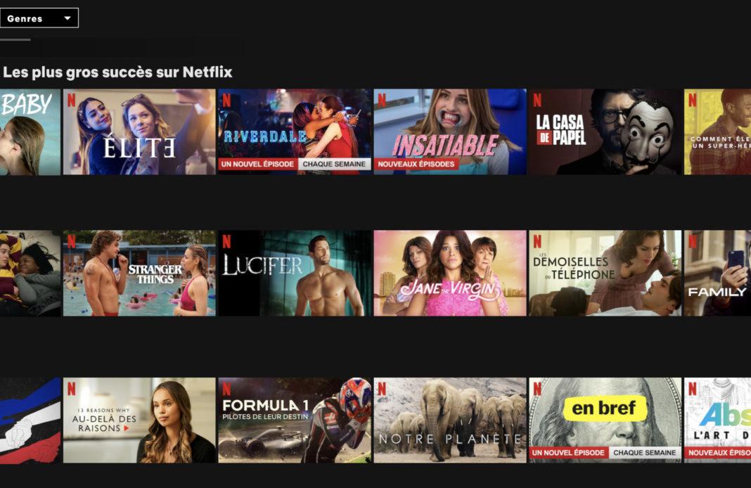 Netflix - audience - top 10 - séries tv - classement