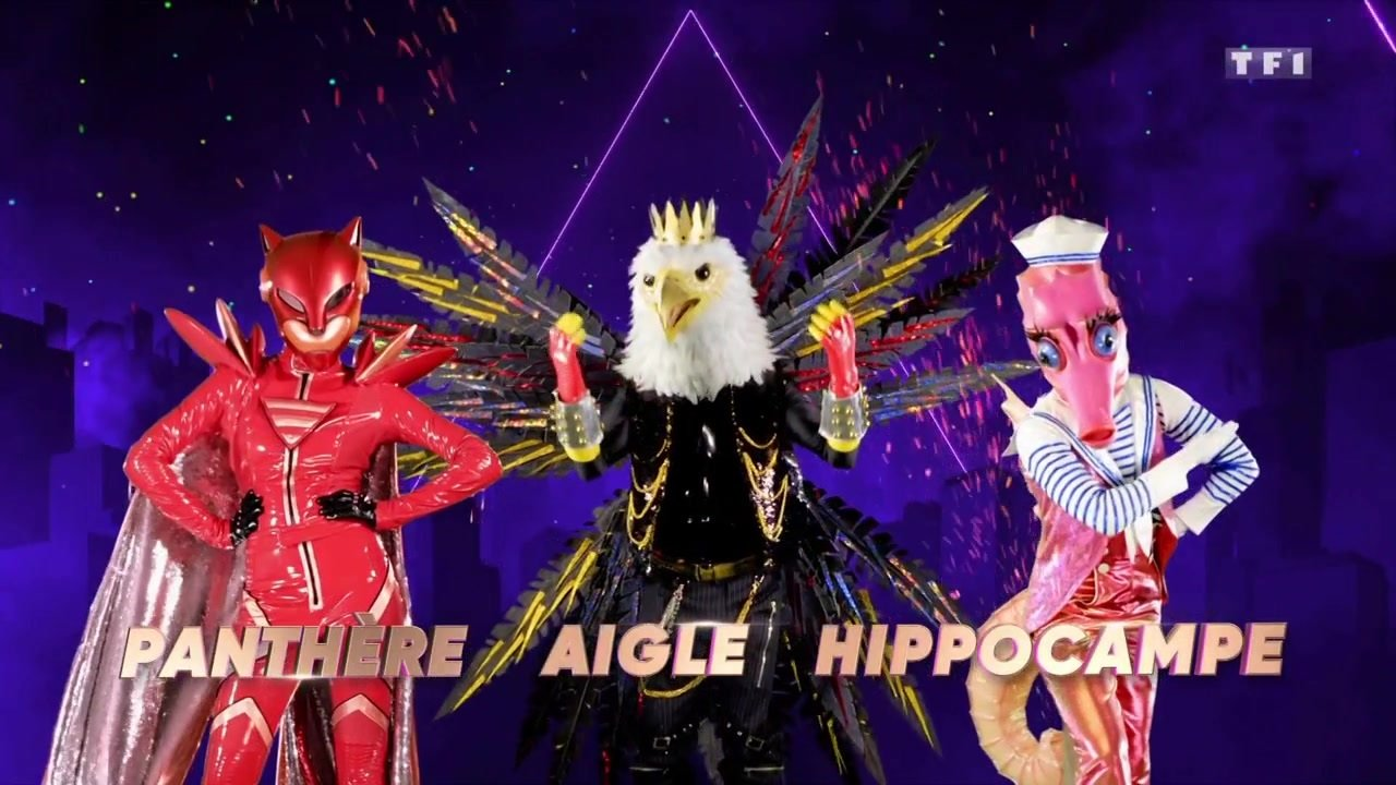 Mask Singer - TF1 - costumes - panthère - aigle - hippocampe