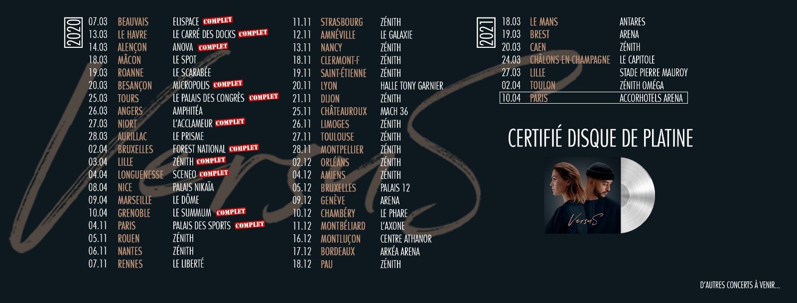 Vitaa Slimane - Versus Tour - tournée - concert