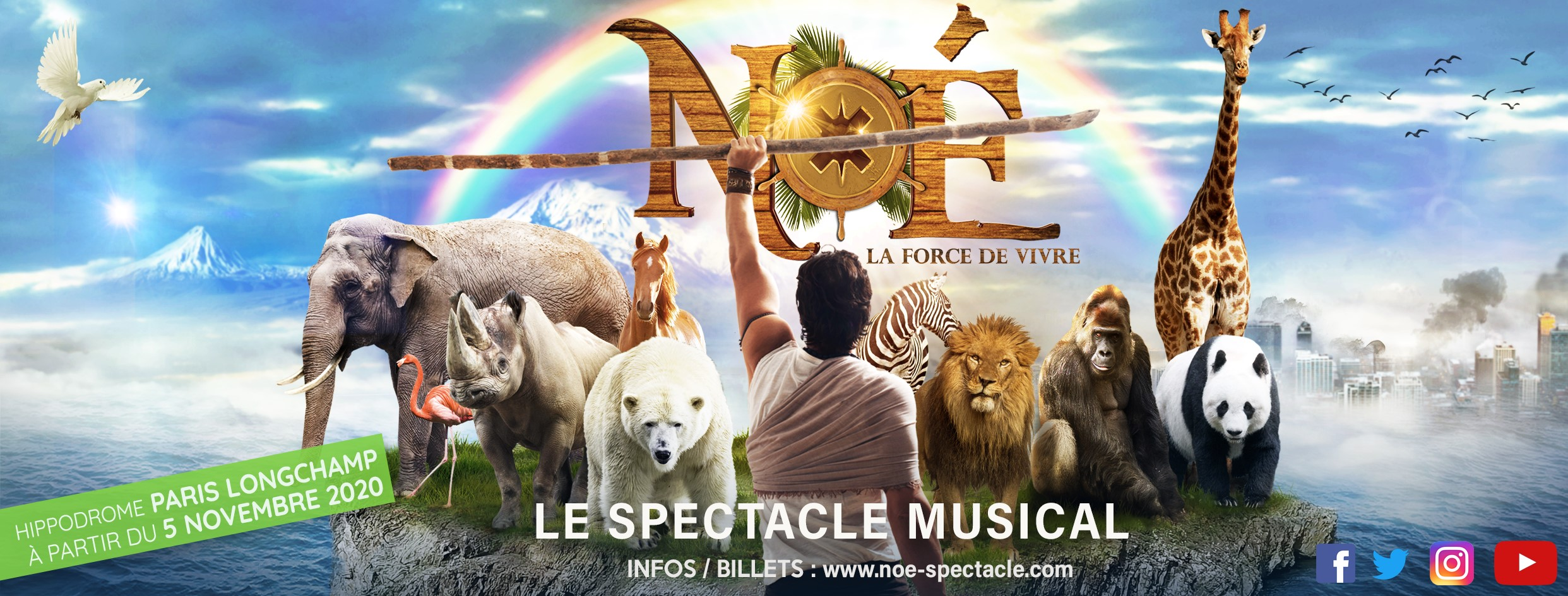 Noé la force de vivre - Noé le spectacle musical - animaux