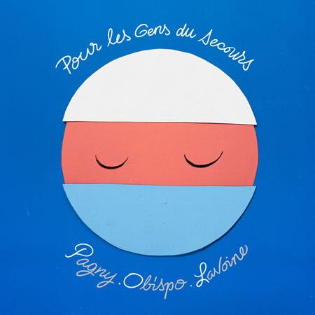 Pour les gens du secours - pochette - Pagny Obispo Lavoine -