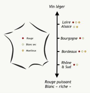 Carte vin france