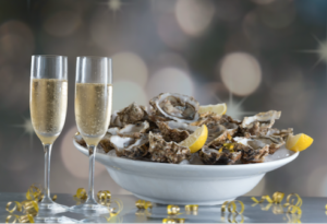 champagne huîtres