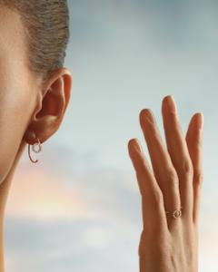 Bague Boucle d'oreille diamant