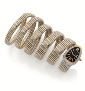 BUVLGARI, Serpenti, Montre bracelet Tubogas 6 rangs en or