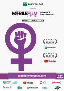 mobile film festival - women's rights - women's empowerment - courts métrages - film - syma news - movie - festival- women - metoo- balance ton porc