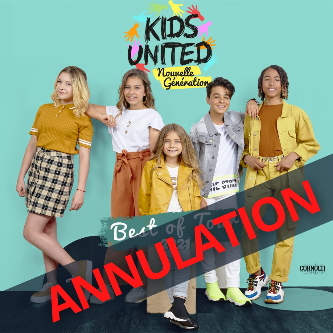 Kids united - annulation concerts - séparation -